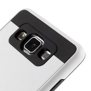 Hybridné gélové/plastové puzdro pre Samsung Galaxy A5 - biele - 3