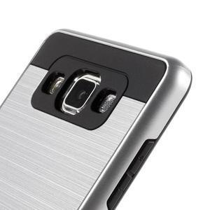 Hybridní gélové/plastové puzdro na Samsung Galaxy A5 - strieborné - 3