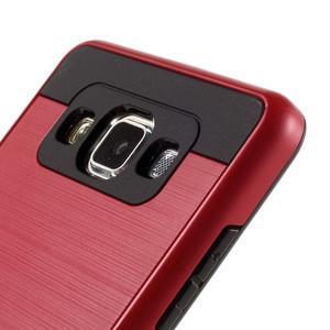Hybridné gélové/plastové puzdro pre Samsung Galaxy A5 - červené - 3