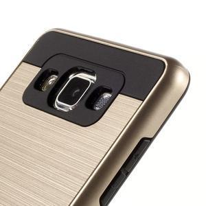 Hybridné gélové/plastové puzdro pre Samsung Galaxy A5 - zlaté - 3