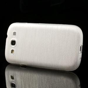 Brush gélový kryt na Samsung Galaxy S III / Galaxy S3 - biely - 3