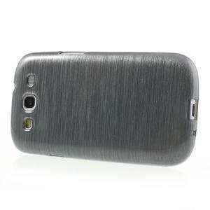Brush gélový kryt na Samsung Galaxy S III / Galaxy S3 - šedý - 3