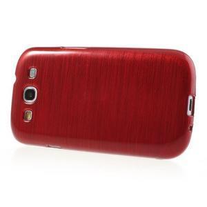 Brush gélový kryt pre Samsung Galaxy S III / Galaxy S3 - červený - 3