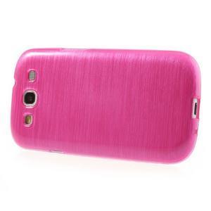 Brush gélový kryt na Samsung Galaxy S III / Galaxy S3 - rose - 3