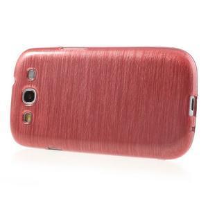 Brush gélový kryt pre Samsung Galaxy S III / Galaxy S3 - ružový - 3