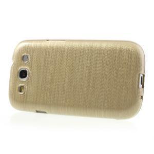 Brush gélový kryt pre Samsung Galaxy S III / Galaxy S3 - zlatý - 3