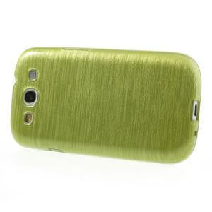 Brush gélový kryt pre Samsung Galaxy S III / Galaxy S3 - zelený - 3
