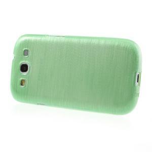 Brush gélový kryt na Samsung Galaxy S III / Galaxy S3 - zelený - 3
