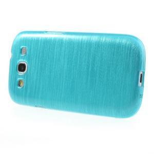 Brush gélový kryt na Samsung Galaxy S III / Galaxy S3 - modrý - 3