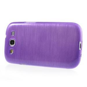 Brush gélový kryt na Samsung Galaxy S III / Galaxy S3 - fialový - 3