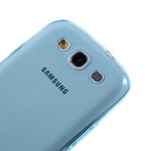 Ultratenký slim 0.6 mm obal na Samsung Galaxy S III / S3 - modrý - 3