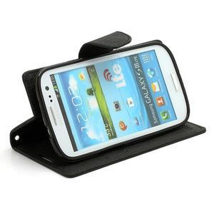 Mr. Fancy koženkové puzdro na Samsung Galaxy S3 - čierné - 3