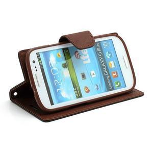 Mr. Fancy koženkové puzdro pre Samsung Galaxy S3 - čierné/hnedé - 3
