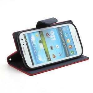 Mr. Fancy koženkové puzdro na Samsung Galaxy S3 - červené - 3