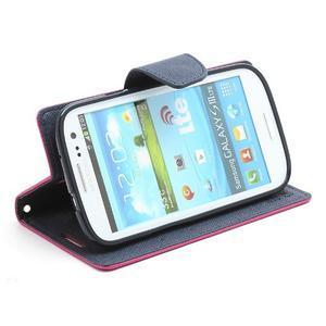 Mr. Fancy koženkové puzdro na Samsung Galaxy S3 - rose - 3