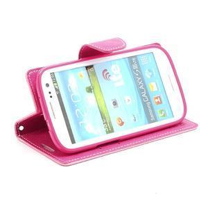 Mr. Fancy koženkové puzdro na Samsung Galaxy S3 - růžové - 3