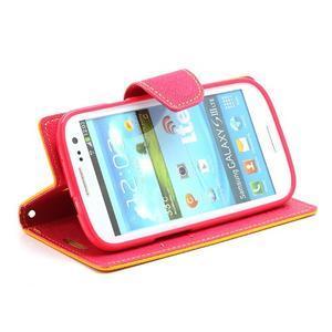 Mr. Fancy koženkové puzdro na Samsung Galaxy S3 - žlté - 3