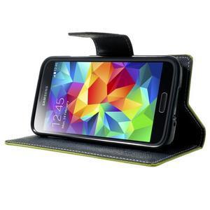Diary PU kožené puzdro pre Samsung Galaxy S5 mini - zelené - 3