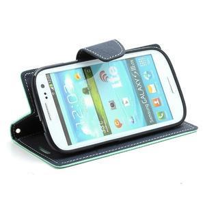 Mr. Fancy koženkové puzdro pre Samsung Galaxy S3 - azúrové - 3