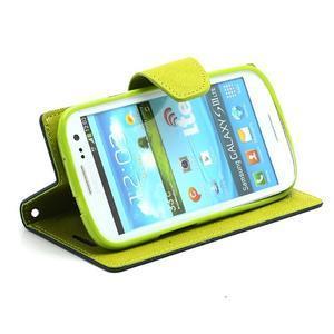 Mr. Fancy koženkové puzdro pre Samsung Galaxy S3 - tmavo modré - 3