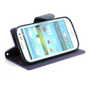 Mr. Fancy koženkové puzdro pre Samsung Galaxy S3 - fialové - 3
