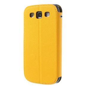 Peňaženkové puzdro s okýnkem pre Samsung Galaxy S3 / S III - žlté - 3