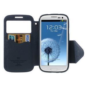 Peňaženkové puzdro s okýnkem pre Samsung Galaxy S3 / S III - fialové - 3