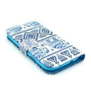 Peňaženkové puzdro pre mobil Samsung Galaxy S III - slony - 3