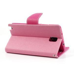 Goosp PU kožené puzdro na Samsung Galaxy Note 3 - růžové - 3