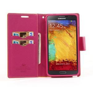 Goosp PU kožené puzdro na Samsung Galaxy Note 3 - žlté - 3