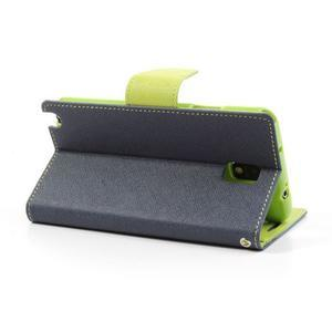 Goosp PU kožené puzdro pre Samsung Galaxy Note 3 - tmavo modré - 3