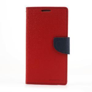 Goosp PU kožené puzdro pre Samsung Galaxy Note 3 - červené - 3