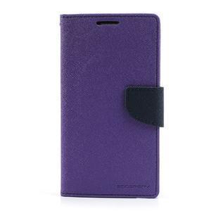 Goosp PU kožené puzdro na Samsung Galaxy Note 3 - fialové - 3
