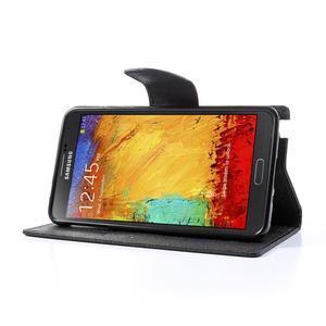 Goosp PU kožené puzdro pre Samsung Galaxy Note 3 - čierné/hnedé - 3