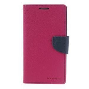 Goosp PU kožené puzdro pre Samsung Galaxy Note 3 - rose - 3