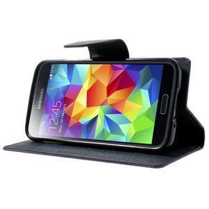 Diary PU kožené puzdro pre Samsung Galaxy S5 mini - fialové - 3