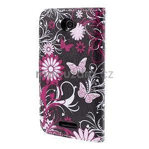 Koženkové puzdro pre mobil Sony Xperia E4 - motýľe - 3