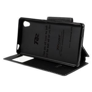 Peněženkové pouzdro s okýnkem pro Sony Xperia M4 Aqua - bílé - 3