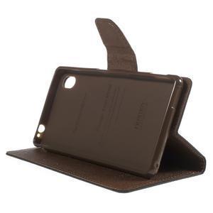 Ochranné puzdro pre Sony Xperia M4 Aqua - čierne/hnedé - 3