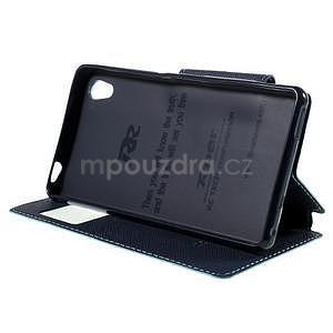 Peňaženkové puzdro s okienkom pre Sony Xperia M4 Aqua - svetlomodré - 3