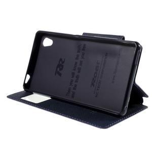 Peňaženkové puzdro s okienkom pre Sony Xperia M4 Aqua - fialové - 3