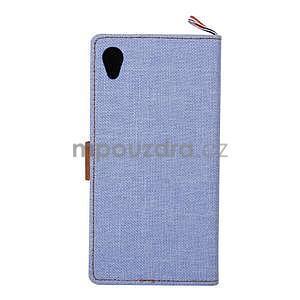 Jeans Peňaženkové puzdro pre mobil Sony Xperia M4 Aqua - svetle modré - 3