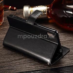 Koženkové puzdro Sony Xperia M4 Aqua - čierne - 3