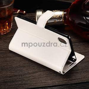 Koženkové pouzdro Sony Xperia M4 Aqua - bílé - 3