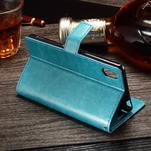 Koženkové pouzdro Sony Xperia M4 Aqua - modré - 3/3
