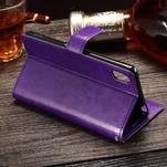 Koženkové pouzdro Sony Xperia M4 Aqua - fialové - 3/3