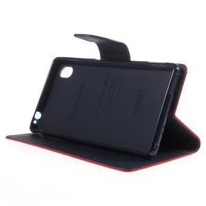 Ochranné puzdro pre Sony Xperia M4 Aqua - červené/tmavomodré - 3