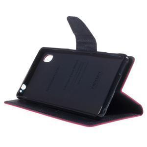 Ochranné puzdro pre Sony Xperia M4 Aqua - rose/tmavomodré - 3
