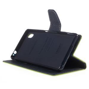 Ochranné puzdro pre Sony Xperia M4 Aqua - zelené/tmavomodré - 3