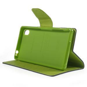 Ochranné pouzdro na Sony Xperia M4 Aqua - tmavěmodré/zelené - 3
